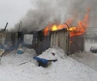 Пожар в приюте в Усинске